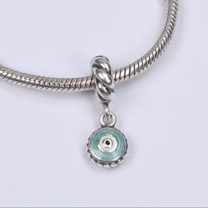 Authentic PANDORA Silver Watchful Eye Dangle Charm